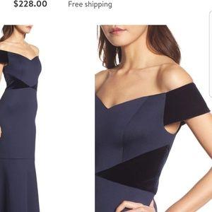 Eliza J evening gown with Velvet